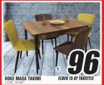 Yön Avm Ahşap Mutfak Masa Sandalye Takımı