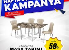 Aksu Çarşı Mutfak Masası ve Sandalye Seti