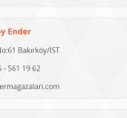 Ender Mağazaları Bakırköy Telefon Numarası